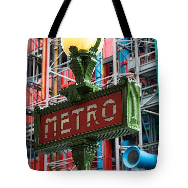 Paris Metro Tote Bag by Inge Johnsson