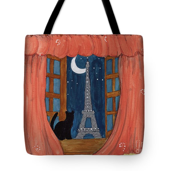 Paris Moonlight Tote Bag by Lee Owenby