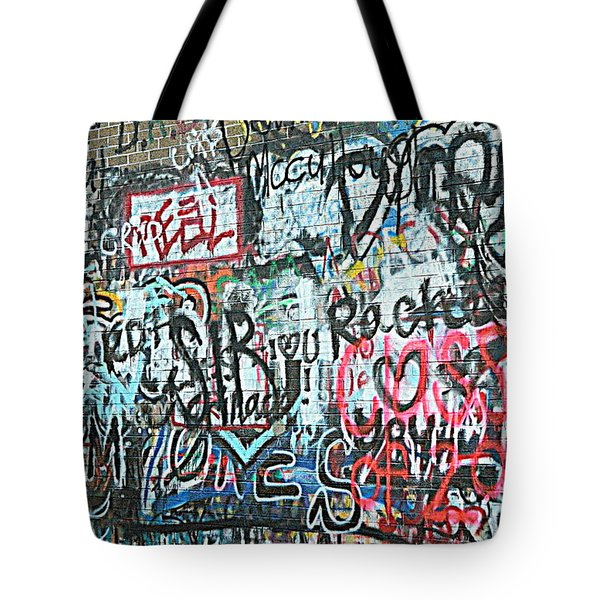 Tote Bag featuring the photograph Paris Mountain Graffiti by Kathy Barney