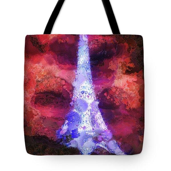 Paris Night Tote Bag by Mo T