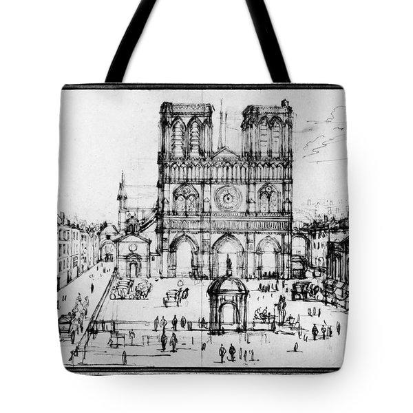 Paris Notre Dame, 1690s Tote Bag