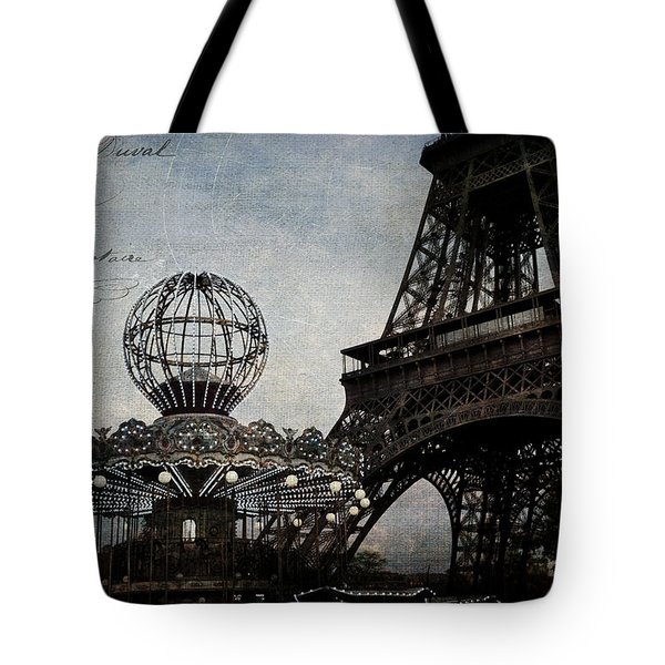 Paris One More Ride Tote Bag