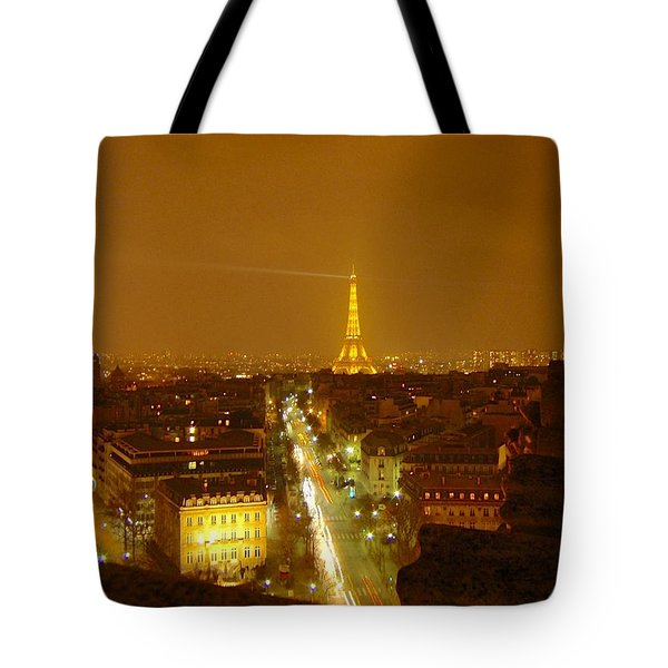 Paris Orange Tote Bag