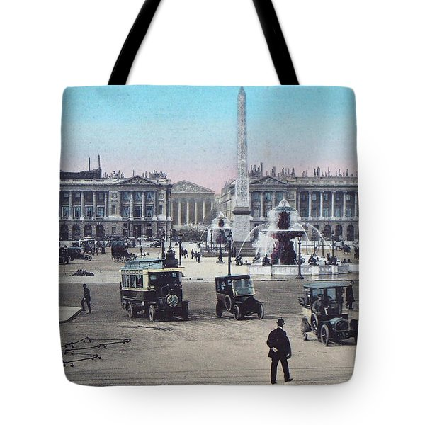 Paris Place De La Concorde 1910 Tote Bag