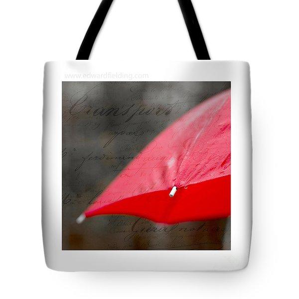 Paris Rains Original Signed Mini Tote Bag