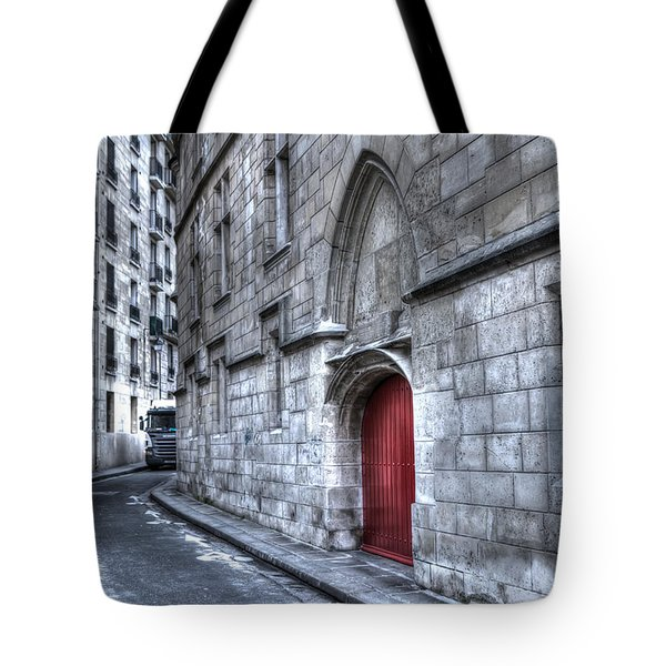 Paris Red Door Tote Bag by Evie Carrier