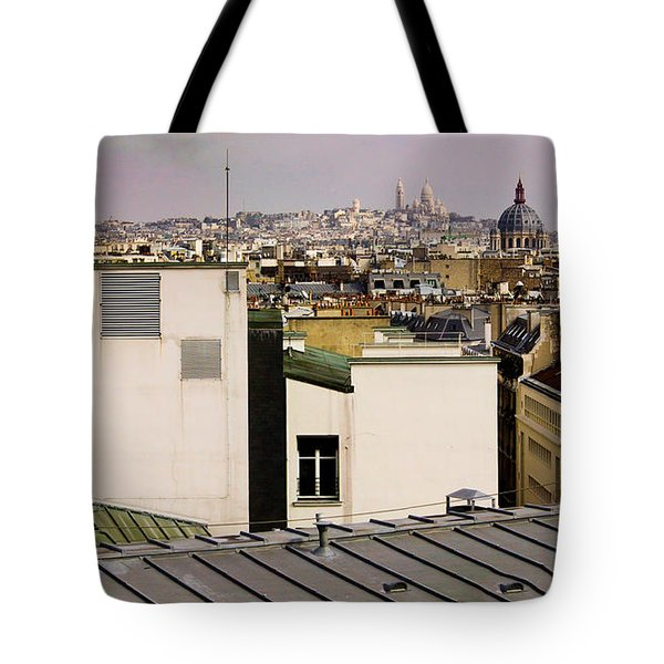 Paris Rooftop Panorama Tote Bag by Thomas Marchessault