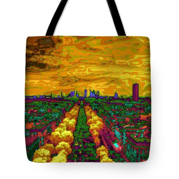 Paris Skyline Pop Art Tote Bag by Eti Reid