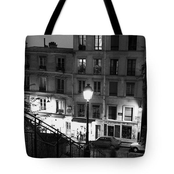Paris-steps-montmartre Tote Bag