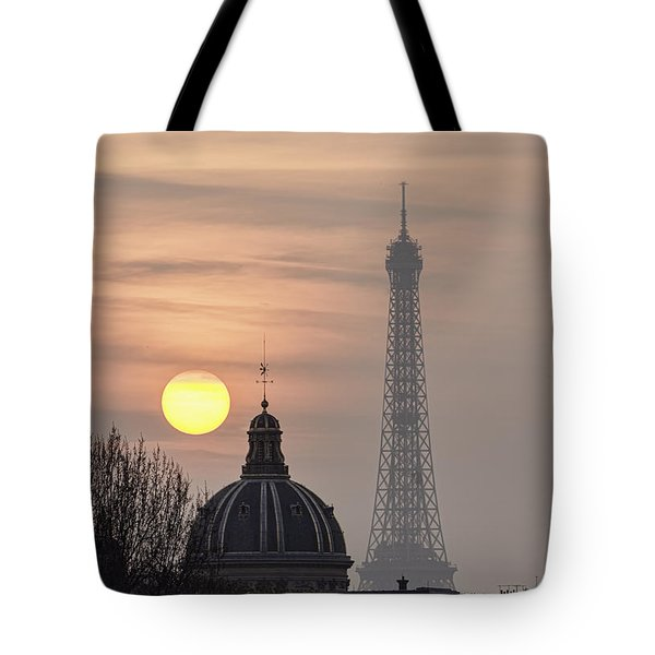 Paris Sunset I Tote Bag by Mark Harrington