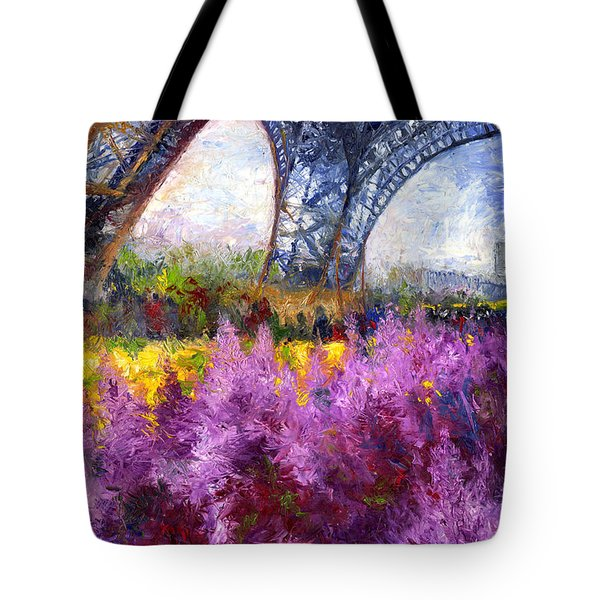 Paris Tour Eiffel 01 Tote Bag by Yuriy  Shevchuk