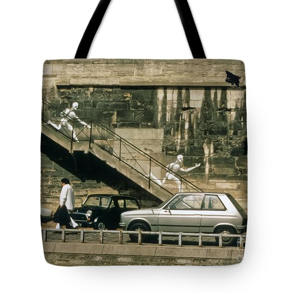 Paris Wall Tote Bag by Thomas Marchessault