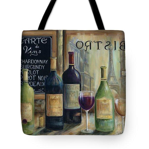 Paris Wine Tasting Tote Bag by Marilyn Dunlap
