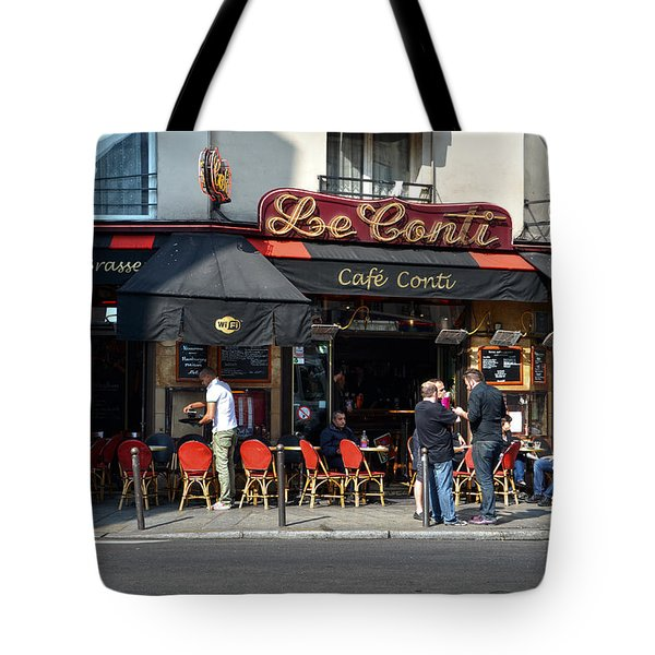 Parisian Cafe Le Conti Tote Bag by RicardMN Photography