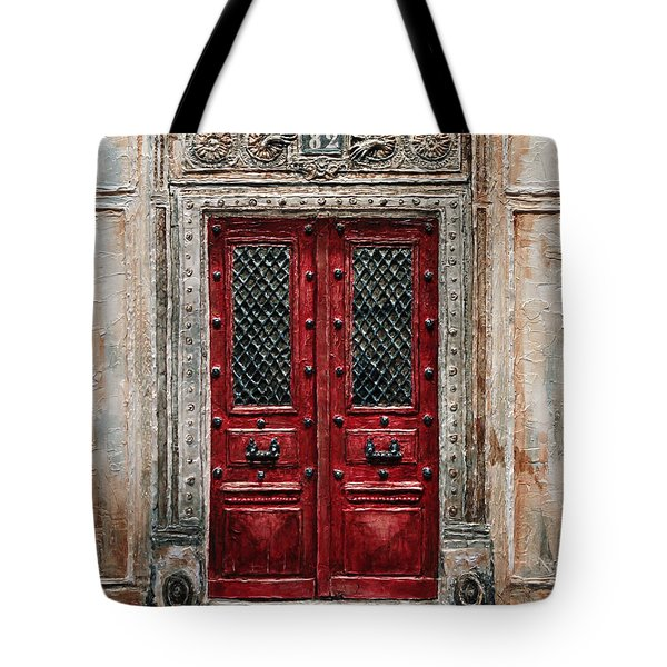 Parisian Door No.82 Tote Bag by Joey Agbayani