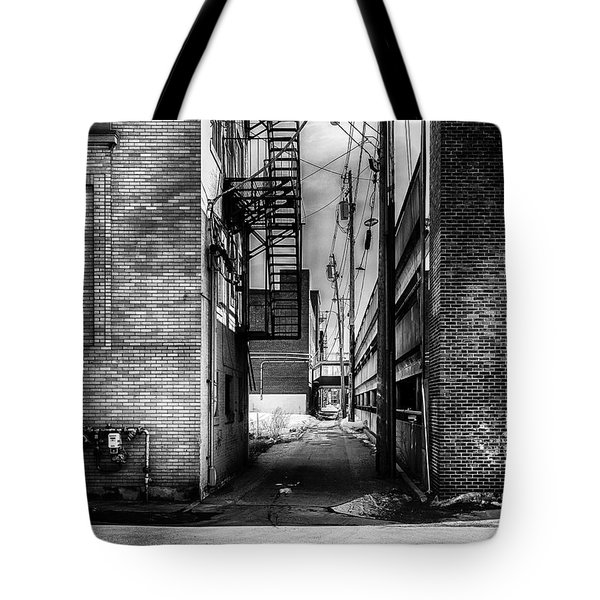 Park Alley Sunset Tote Bag by Bob Orsillo