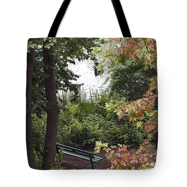 Tote Bag featuring the photograph Park Bench by Kate Brown
