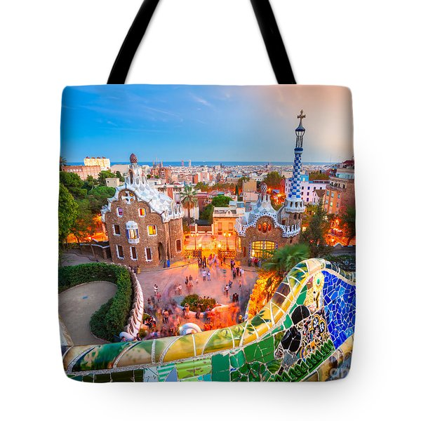 Park Guell In Barcelona - Spain Tote Bag