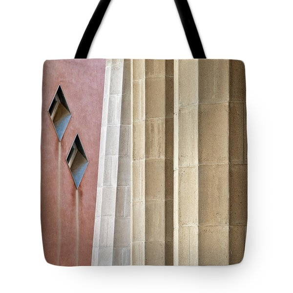 Park Guell Pillars Tote Bag by Dave Bowman