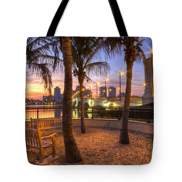 Park On The West Palm Beach Wateway Tote Bag
