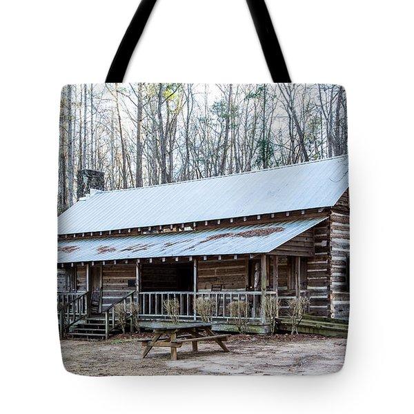 Park Ranger Cabin Tote Bag