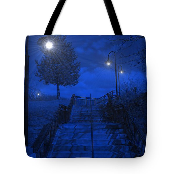 Park Stairs Tote Bag by Michael Rucker
