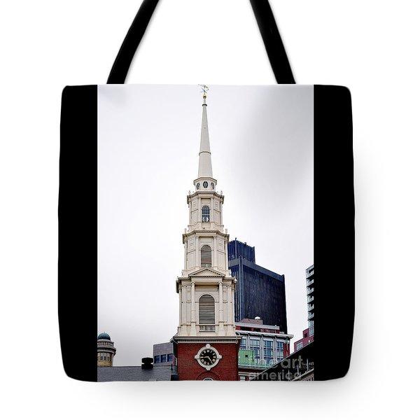 Park Street Church Boston Massachusetts Tote Bag