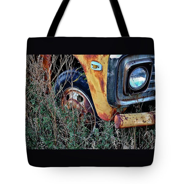 Tote Bag featuring the photograph Parked Fuel Oil Truck by Greg Jackson