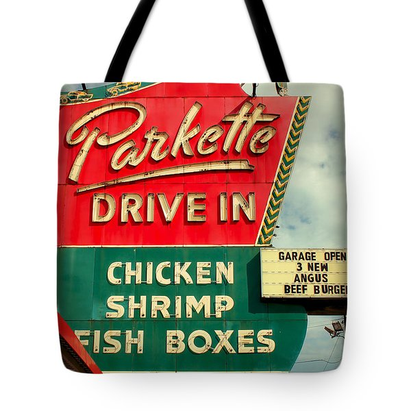 Parkette Drive-in Tote Bag