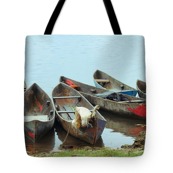 Parking Boats Tote Bag by Jola Martysz