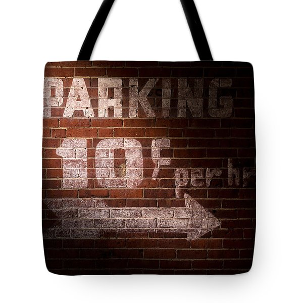 Parking Ten Cents Tote Bag by Bob Orsillo