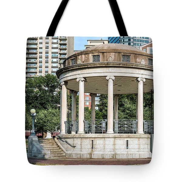 Parkman Bandstand In Boston Public Garden Tote Bag by Boris Mordukhayev