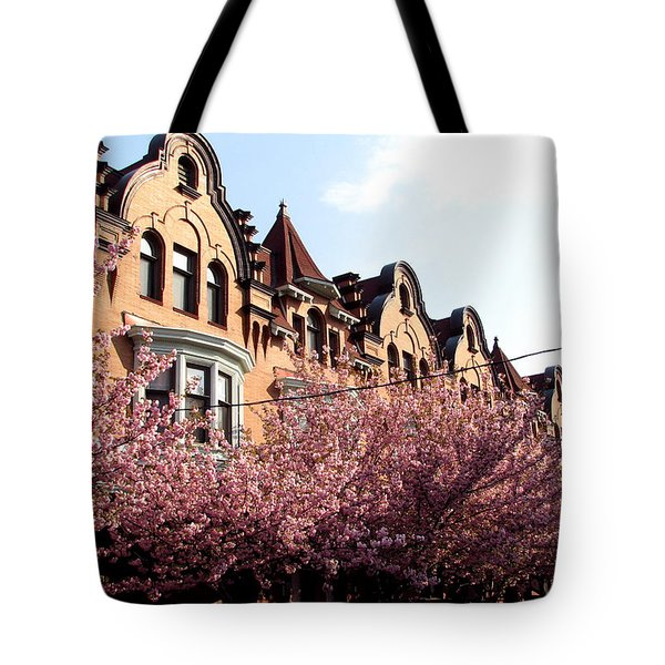 Tote Bag featuring the photograph Philadelphia Parkside  by Christopher Woods