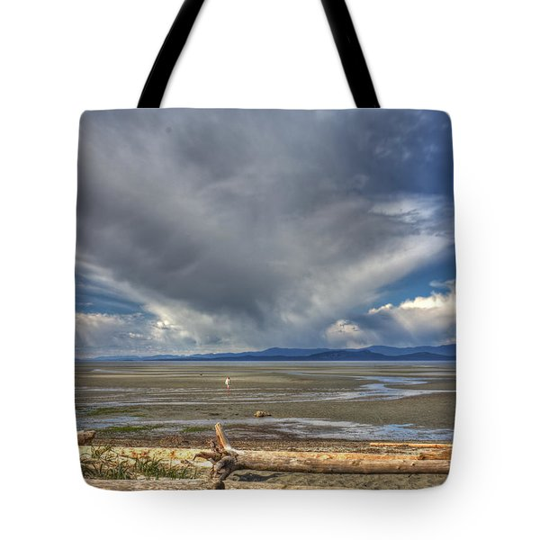 Parksville Beach - Low Tide Tote Bag by Randy Hall