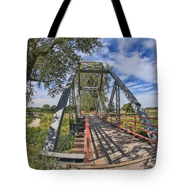 Tote Bag featuring the photograph Parkville Missouri by Liane Wright