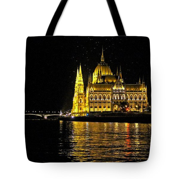 Parliament At Night Tote Bag