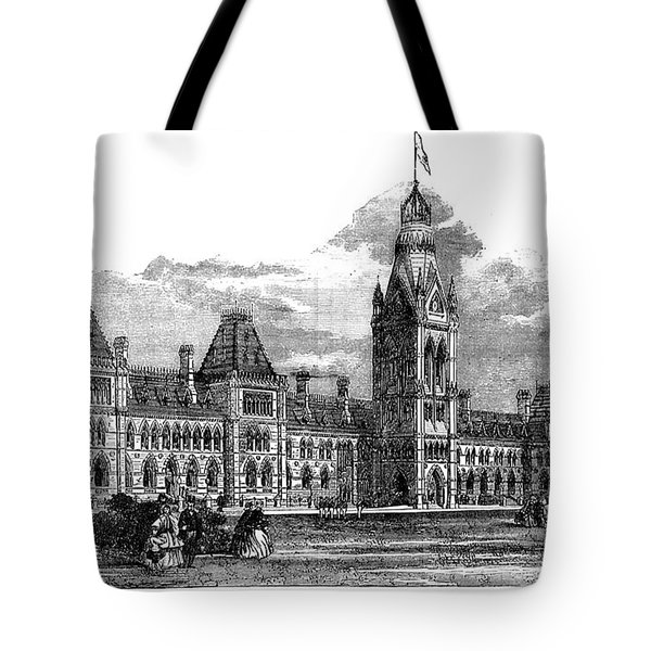 Parliament Building - Ottawa - 1878 Tote Bag