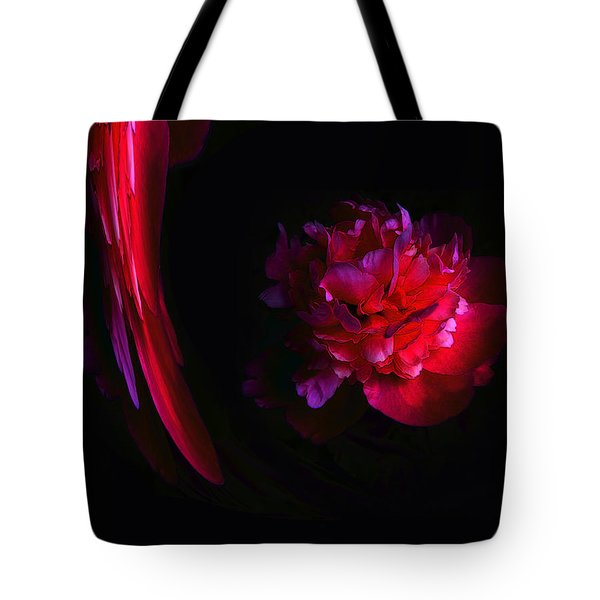 Parrot And Paeony Illusion Tote Bag