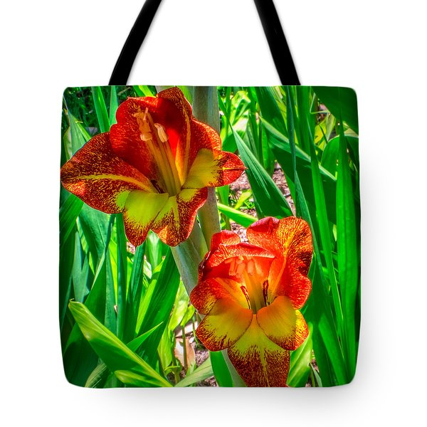 Tote Bag featuring the photograph Parrot Gladiolus by Rob Sellers
