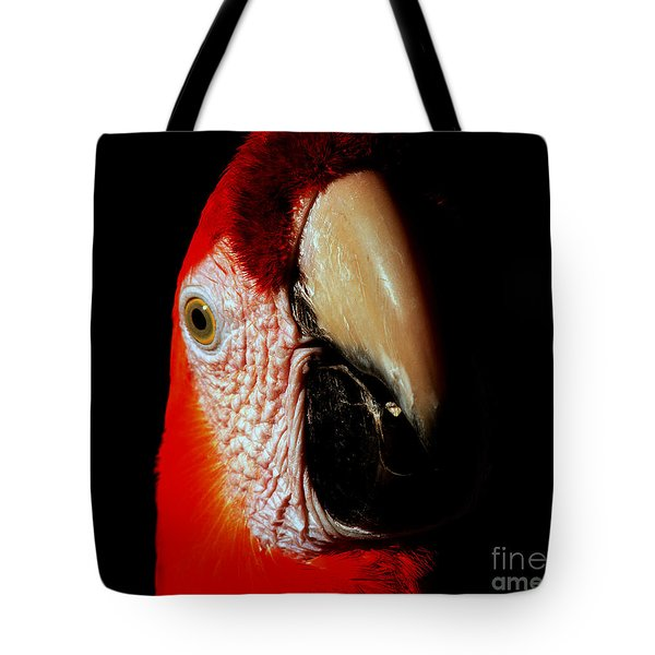 Tote Bag featuring the photograph Parrot by Gunter Nezhoda