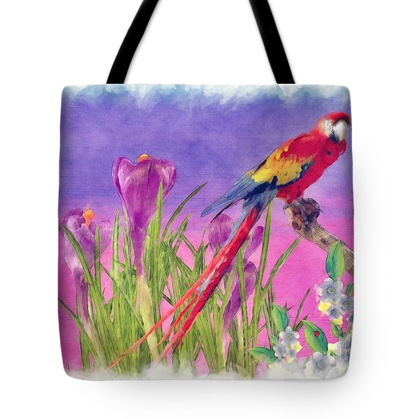Parrot Tote Bag by Liane Wright