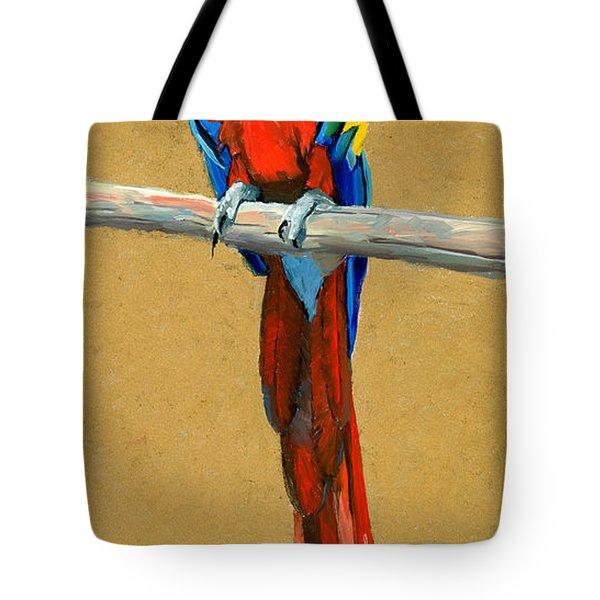 Parrot Perch Tote Bag