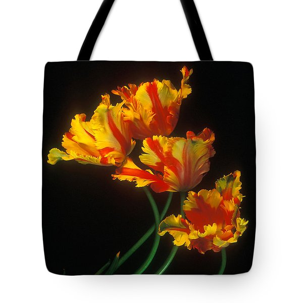 Parrot Tulips On Easter Morning Vertical Tote Bag