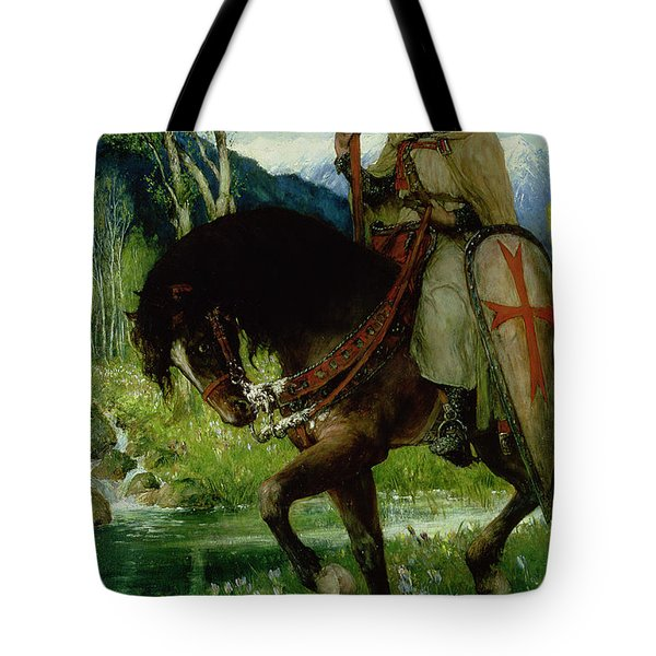 Parsifal In Quest Of The Holy Grail Tote Bag by Ferdinand Leeke