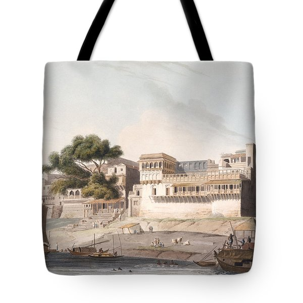 Part Of The City Of Patna, On The River Tote Bag by Thomas Daniell