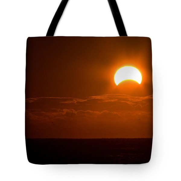 Partial  Eclipse Of The Sun Tote Bag