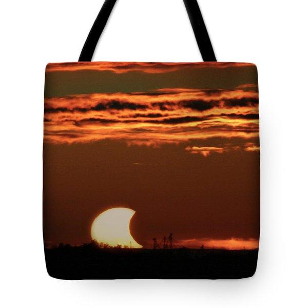 Pac-man Sun Tote Bag by Richard Engelbrecht