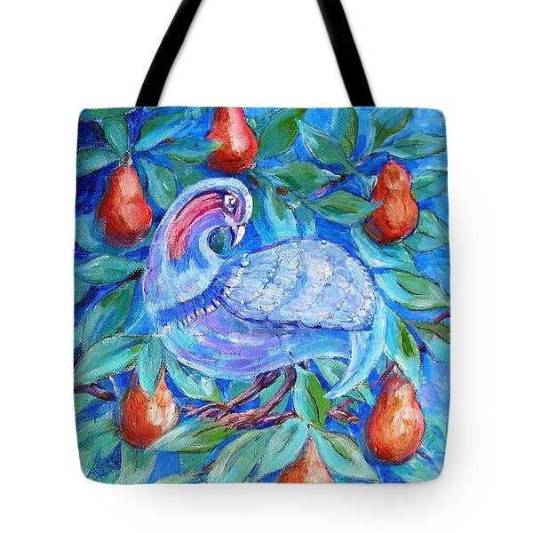Partridge In A Pear Tree  Tote Bag by Trudi Doyle