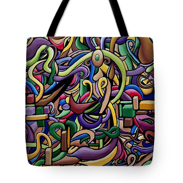 Party Life 2 - Modern Abstract Painting - Ai P. Nilson Tote Bag