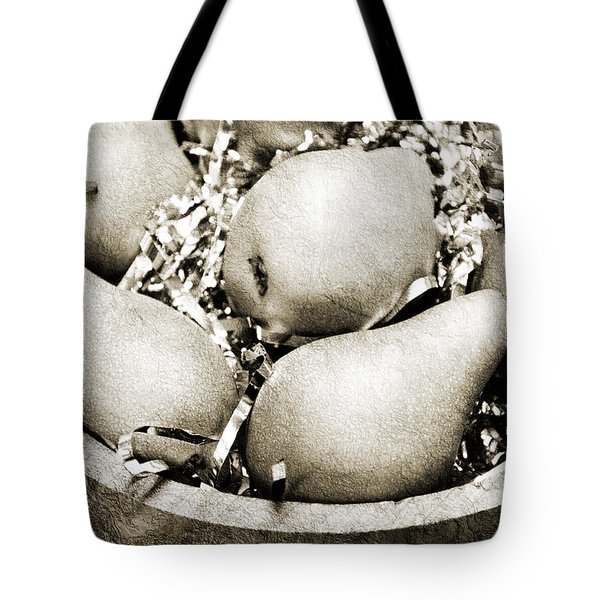 Party Pears Bw Tote Bag by Andee Design